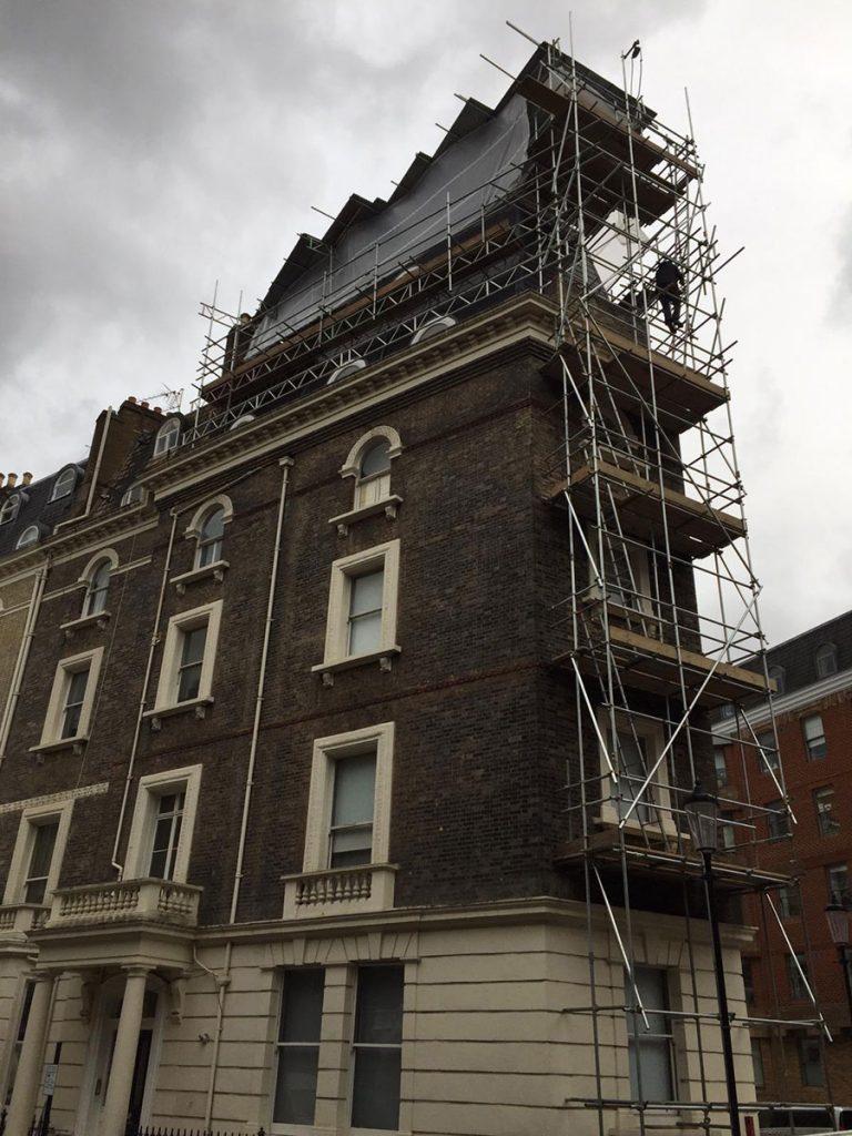 Emergency scaffolding in London
