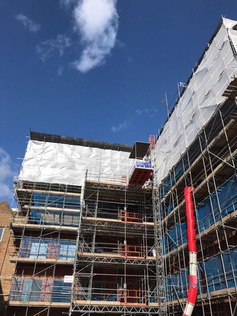 Completed scaffolding jobs